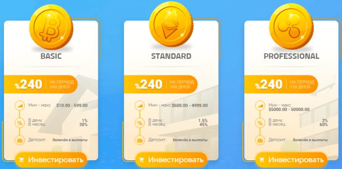 Инвестиционные планы проекта Bulinvmod
