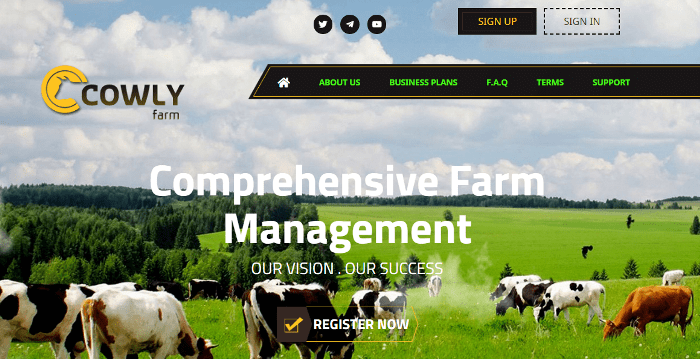 Обзор проекта Cowly Farm