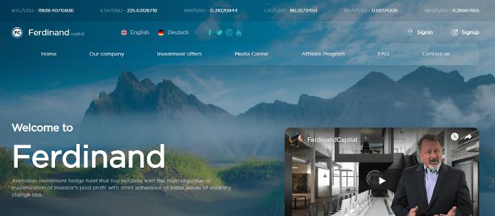 Обзор проекта Ferdinand Capital