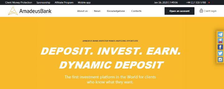 Обзор проекта Amadeus Bank