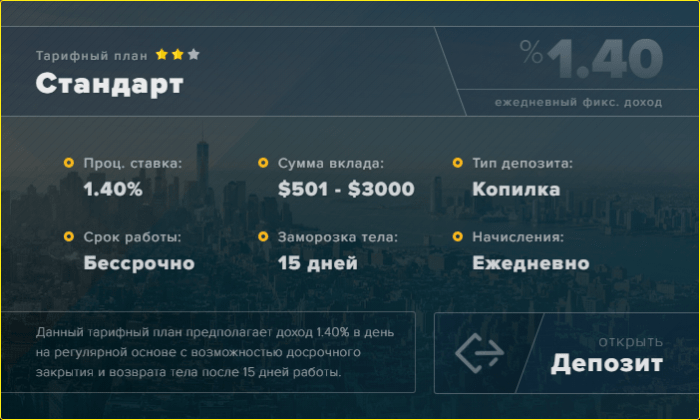 Инвестиционные планы проекта Arber Group