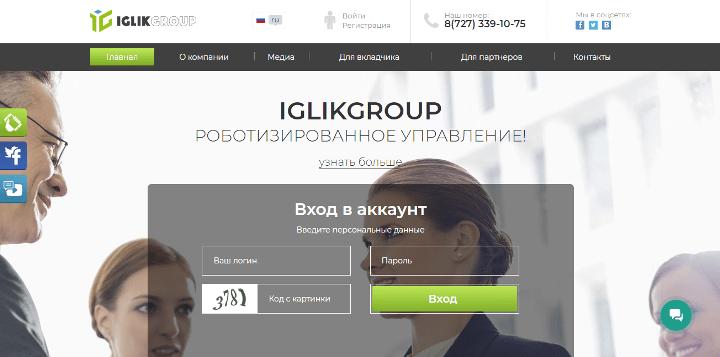 Обзор проекта Iglik Group