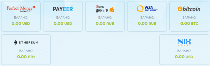 Платежные системы проекта Iglik Group