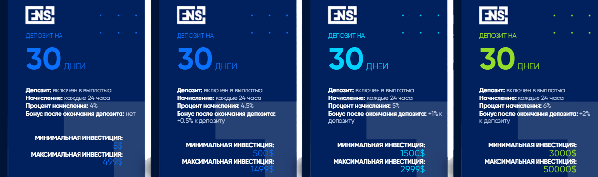 Инвестиционные планы проекта FNS Company