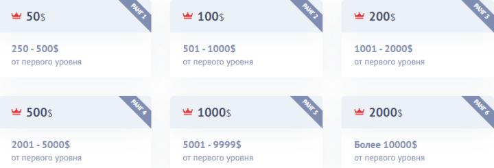 Лидерские бонусы проекта Neroos