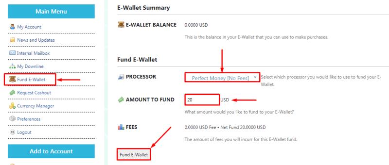Пополнение баланса в проекте Cryptofex Broker