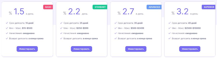 Инвестиционные планы проекта Masteraux