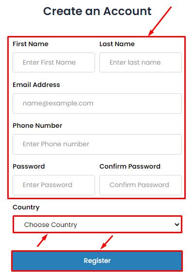 Регистрация в проекте CryptoGiant