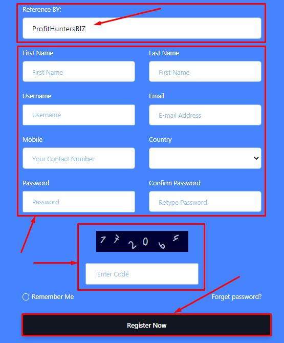Регистрация в проекте FX Roboton