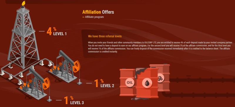 Партнерская программа проекта Oilcorp