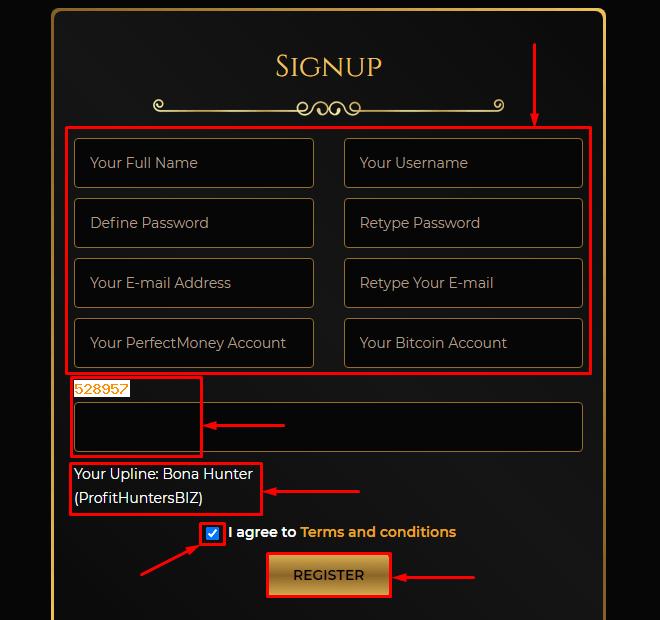 Регистрация в проекте Royal Coin