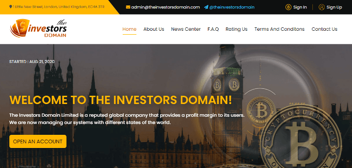 The Investors Domain project overview
