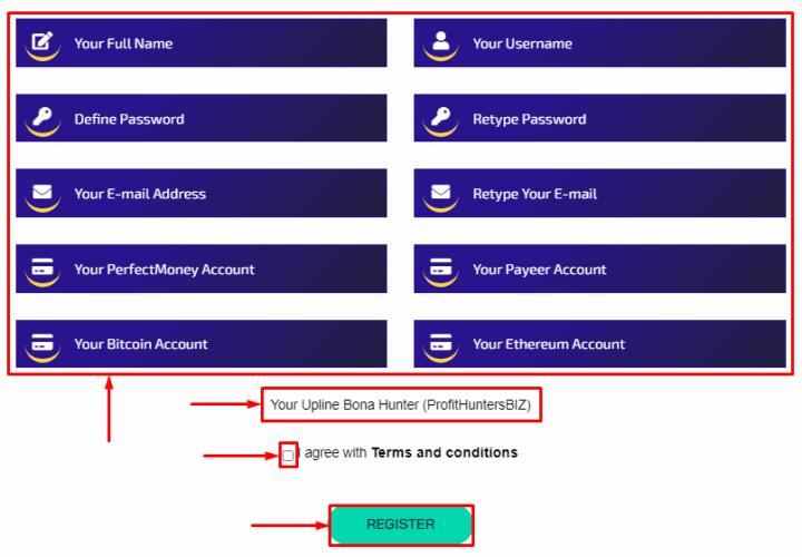 Регистрация в проекте Finance Agility