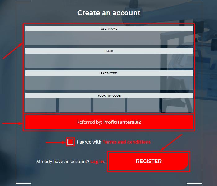 Регистрация в проекте Picus