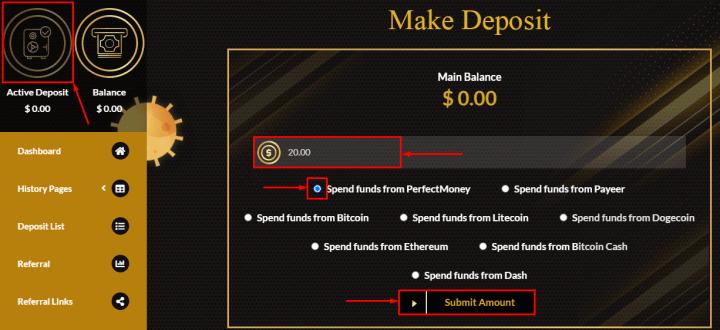Создание депозита в проекте X-Miny