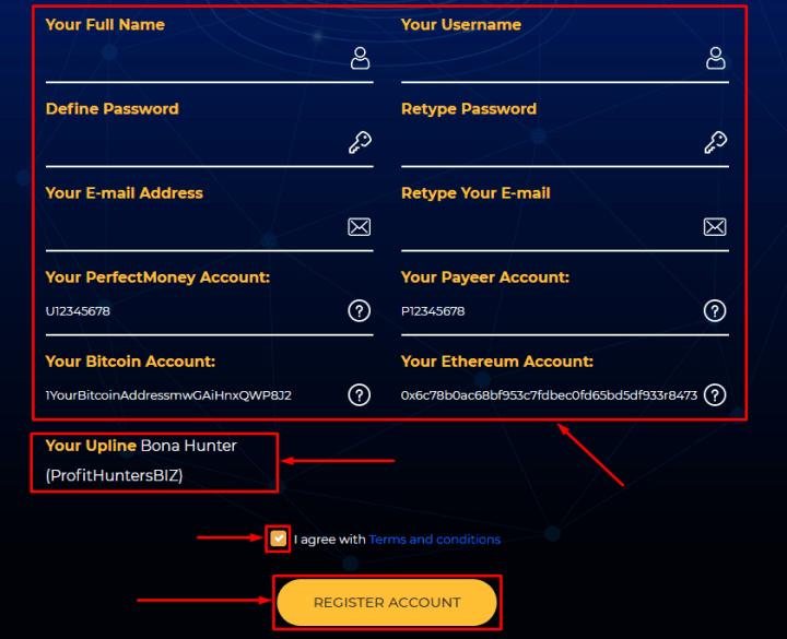 Регистрация в проекте BTC Millionaire