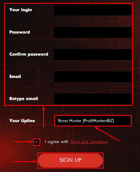 Регистрация в проекте BTC Touch