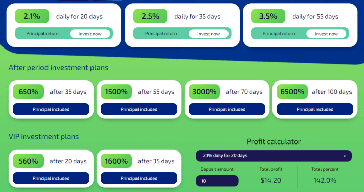 Investment plans of the DogeBox project