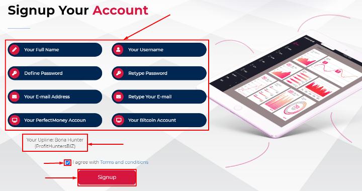 Регистрация в проекте Fortune Holdings