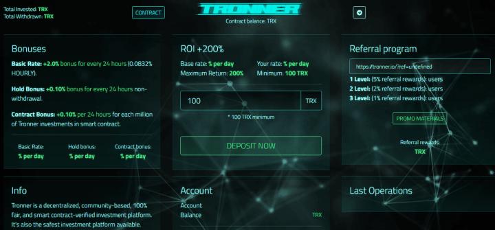 Обзор проекта Tronner