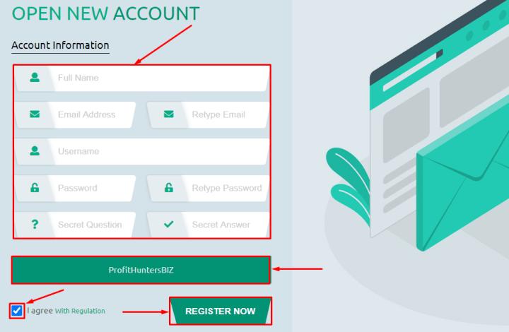 Регистрация в проекте Bit Paradise
