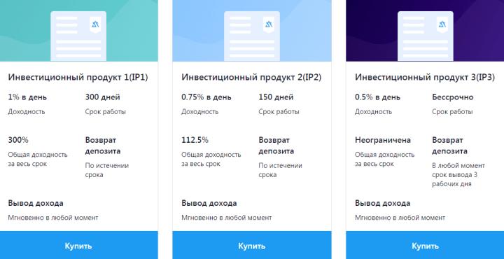 Инвестиционные планы проекта Dant Finance