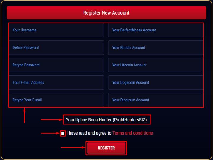 Регистрация в проекте Asset Prime