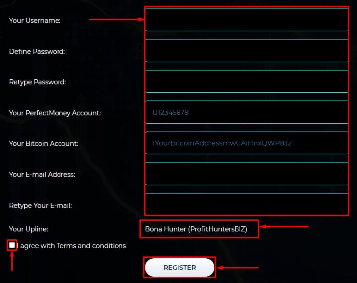 Регистрация в проекте Ex-Trades