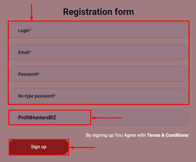 Регистрация в проекте PKR-Group