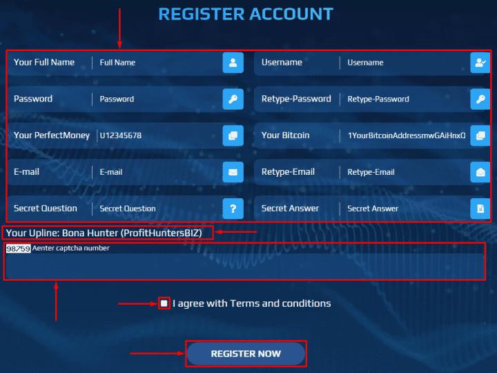 Регистрация в проекте Praem Capital