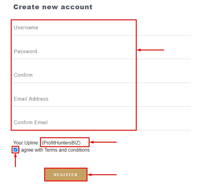 Регистрация в проекте Trustee