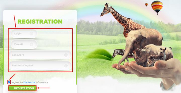 Регистрация в проекте Wildlife Trade