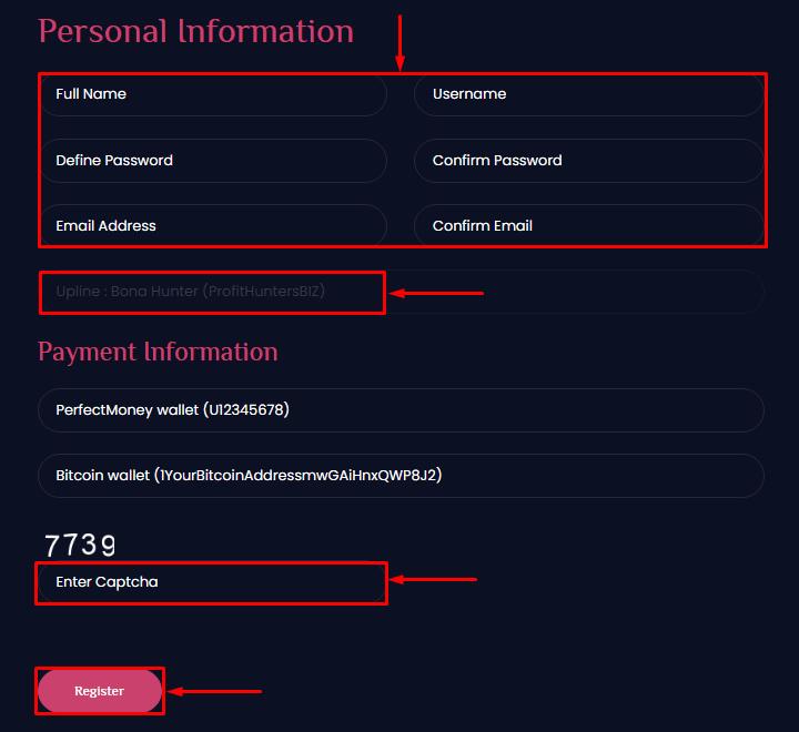Регистрация в проекте Biselo