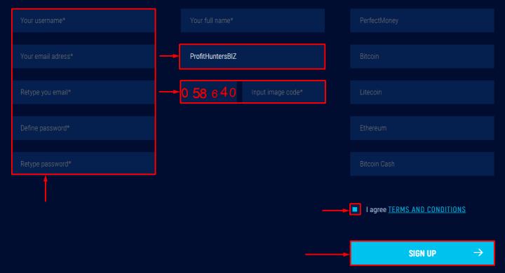 Регистрация в проекте CryptoCapital24