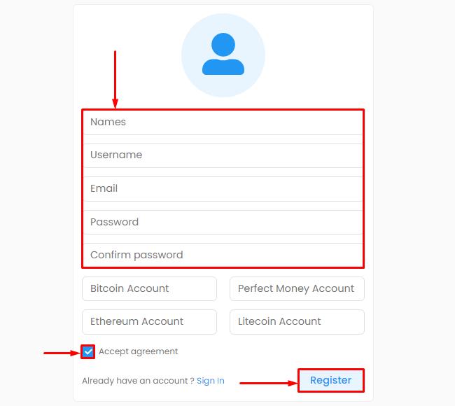 Регистрация в проекте Lybero