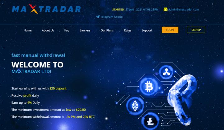 Обзор проекта Maxtradar