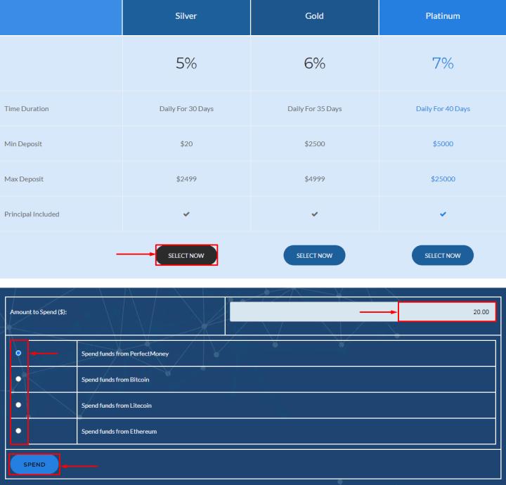 Создание депозита в проекте Optimex Finance