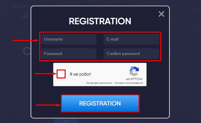 Registration in the Mineex project