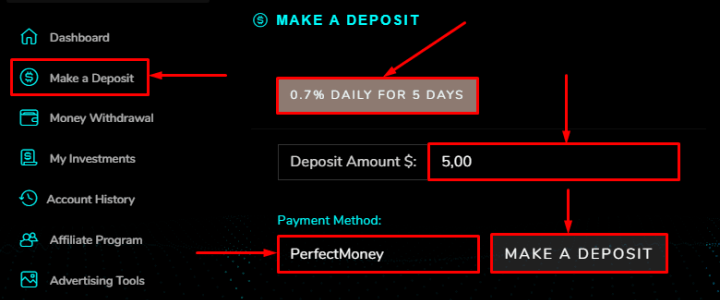 Making a deposit in the Aristocrat project