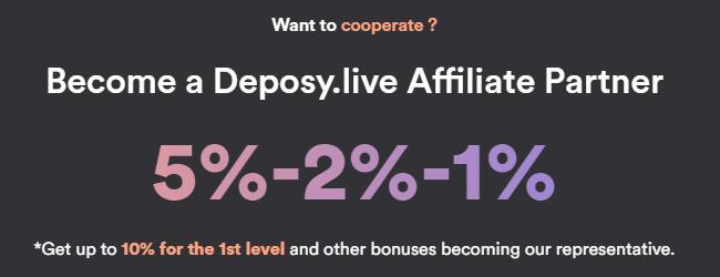 Партнерская программа проекта Deposy Live