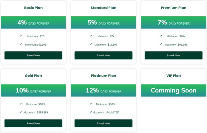 Инвестиционные планы проекта Infinite Passive Income