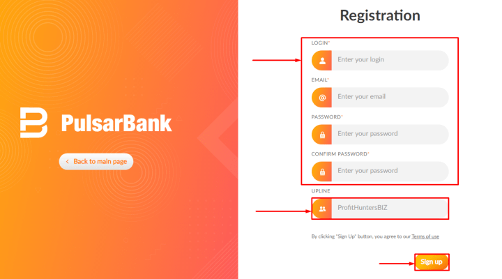 Registration in the Pulsarbank project