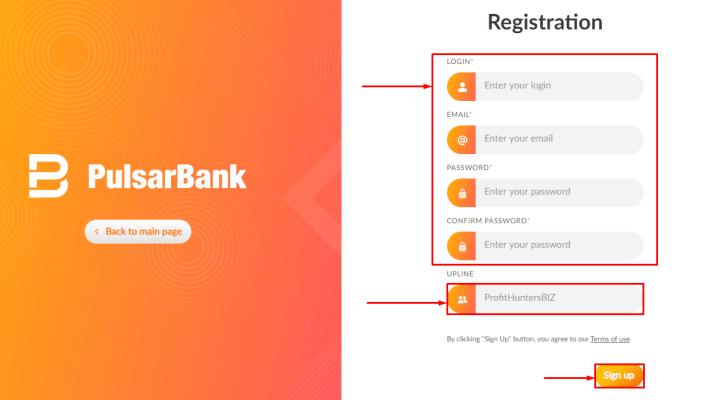 Rejestracja w projekcie Pulsarbank