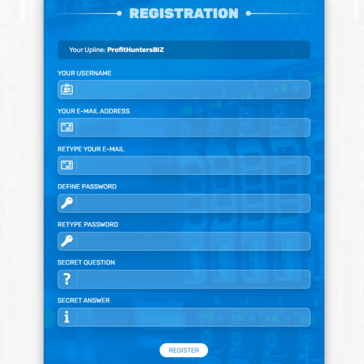 Registration in the Bit-Hunter project