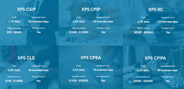 XPS Finance project investment plans