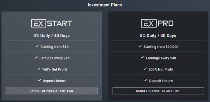 Инвестиционные планы проекта Ex Funds