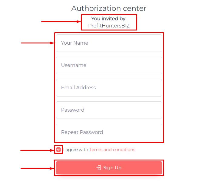 Регистрация в проекте Progrex Tech