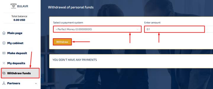 Wypłata środków w projekcie Bulavr