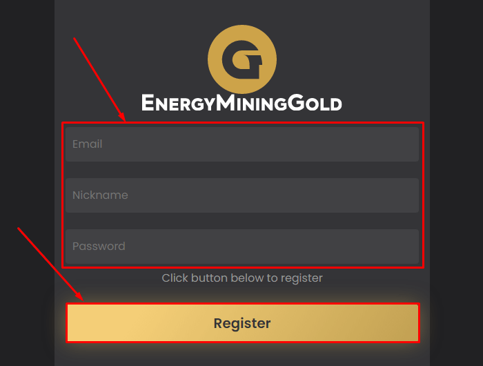 Registration in the Energyemg project