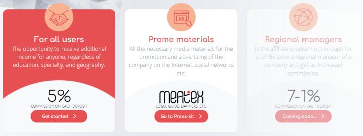 Program partnerski projektu Meatex